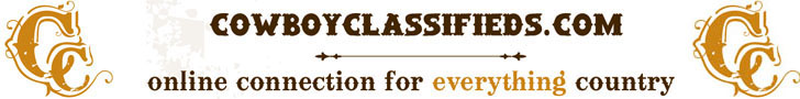 Welcome to Cowboy Classifieds.  Your #1 stop for all things country